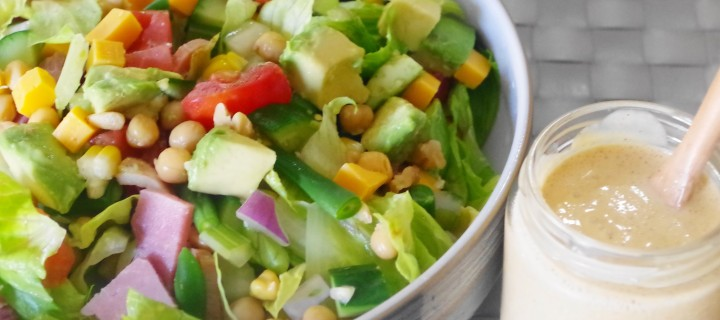 Chopped Salad with Cajun Ranch dressing
